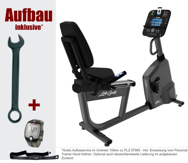 RS1 Track Connect Liegeergometer inkl. Polar FT1 Pulsuhr