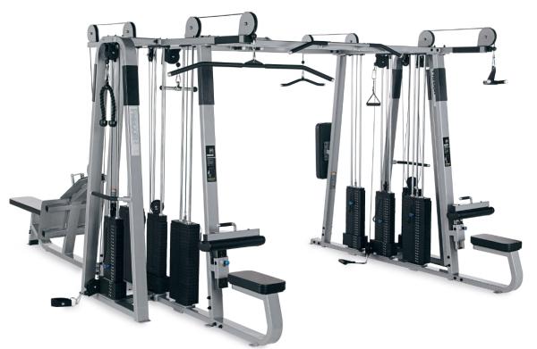 Multistation 820 - Fitnessturm mit 8 Stationen