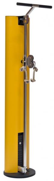 SlimBeam - Gelber Seilzug aus Holz Wandmontage