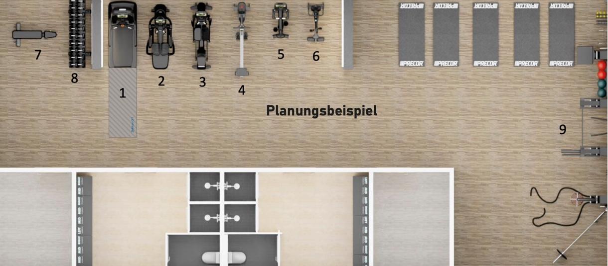 Planungspeispiel-Fitnessraum