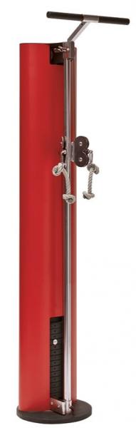 SlimBeam - Roter Seilzug. Kabelzugturm aus Holz