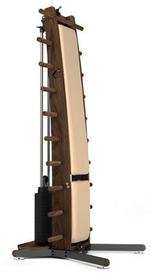 WeightWorkx - Nussbaum - Kunstleder - Kraftstation aus Holz